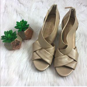 Cole Haan Delfina II Pearlized Wedge Sandal Heels